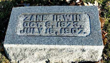 IRWIN, ZANE - Richland County, Ohio | ZANE IRWIN - Ohio Gravestone Photos