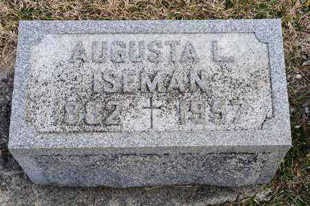 ISEMAN, AUGUSTA L - Richland County, Ohio | AUGUSTA L ISEMAN - Ohio Gravestone Photos