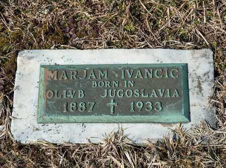 IVANCIC, MARJAM - Richland County, Ohio | MARJAM IVANCIC - Ohio Gravestone Photos