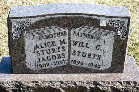 JACOBS, ALICE M STURTS - Richland County, Ohio | ALICE M STURTS JACOBS - Ohio Gravestone Photos