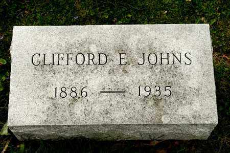 JOHNS, CLIFFORD E - Richland County, Ohio | CLIFFORD E JOHNS - Ohio Gravestone Photos