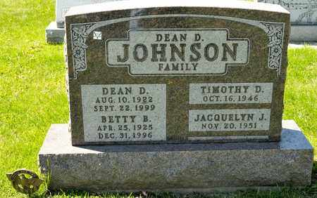 JOHNSON, BETTY B - Richland County, Ohio | BETTY B JOHNSON - Ohio Gravestone Photos