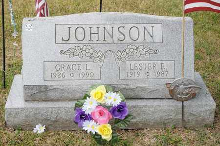 JOHNSON, LESTER E - Richland County, Ohio | LESTER E JOHNSON - Ohio Gravestone Photos