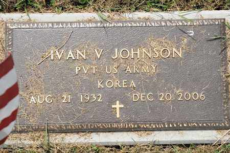 JOHNSON, IVAN V - Richland County, Ohio | IVAN V JOHNSON - Ohio Gravestone Photos