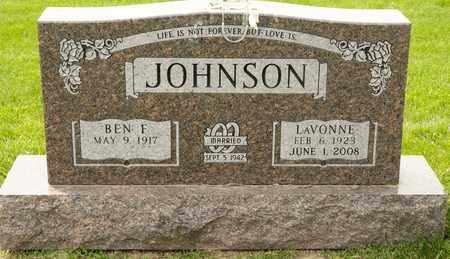 JOHNSON, LAVONNE - Richland County, Ohio | LAVONNE JOHNSON - Ohio Gravestone Photos