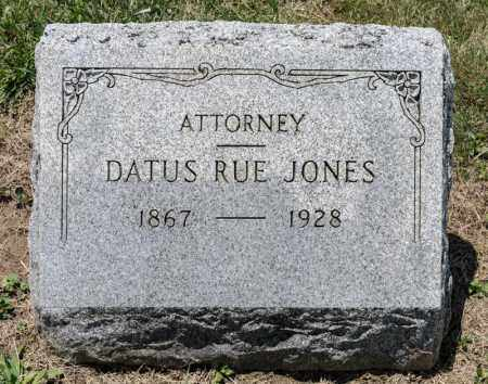 JONES, DATUS RUE - Richland County, Ohio | DATUS RUE JONES - Ohio Gravestone Photos