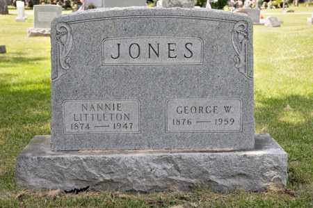 LITTLETON JONES, NANNIE - Richland County, Ohio | NANNIE LITTLETON JONES - Ohio Gravestone Photos