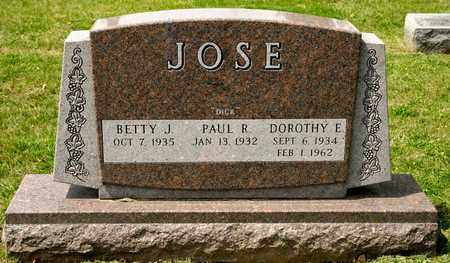 JOSE, DOROTHY E - Richland County, Ohio | DOROTHY E JOSE - Ohio Gravestone Photos