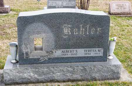 KAHLER, ALBERT S - Richland County, Ohio | ALBERT S KAHLER - Ohio Gravestone Photos