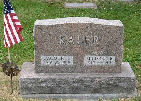 KALER, MILDRED B - Richland County, Ohio | MILDRED B KALER - Ohio Gravestone Photos