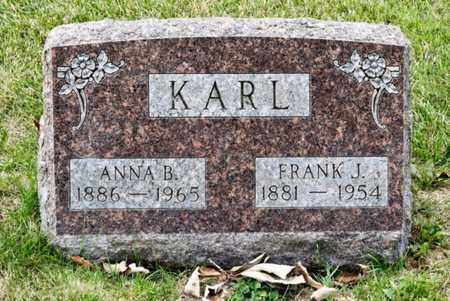KARL, ANNA B - Richland County, Ohio | ANNA B KARL - Ohio Gravestone Photos