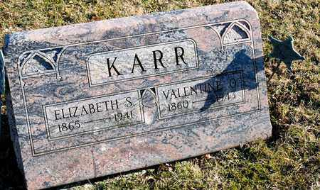 KARR, VALENTINE O - Richland County, Ohio | VALENTINE O KARR - Ohio Gravestone Photos