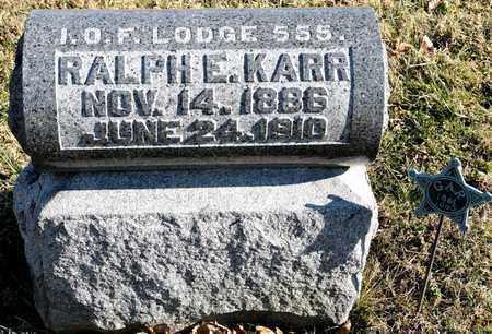 KARR, RALPH E - Richland County, Ohio | RALPH E KARR - Ohio Gravestone Photos
