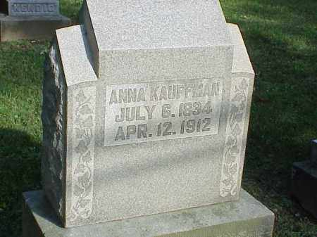 KAUFFMAN, ANNA - Richland County, Ohio | ANNA KAUFFMAN - Ohio Gravestone Photos