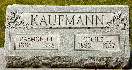 KAUFMANN, RAYMOND F - Richland County, Ohio | RAYMOND F KAUFMANN - Ohio Gravestone Photos