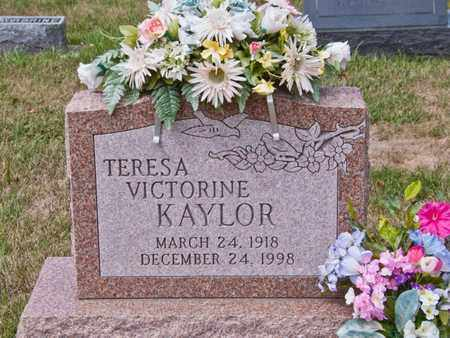 KAYLOR, TERESA VICTORINE - Richland County, Ohio | TERESA VICTORINE KAYLOR - Ohio Gravestone Photos