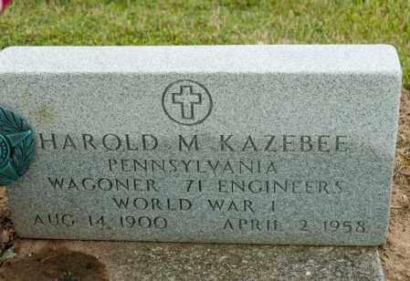 KAZEBEE, HAROLD M - Richland County, Ohio | HAROLD M KAZEBEE - Ohio Gravestone Photos