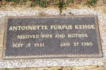 KEHOE, ANTOINETTE PURPUS - Richland County, Ohio | ANTOINETTE PURPUS KEHOE - Ohio Gravestone Photos