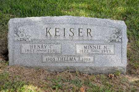 KEISER, MINNIE N - Richland County, Ohio | MINNIE N KEISER - Ohio Gravestone Photos