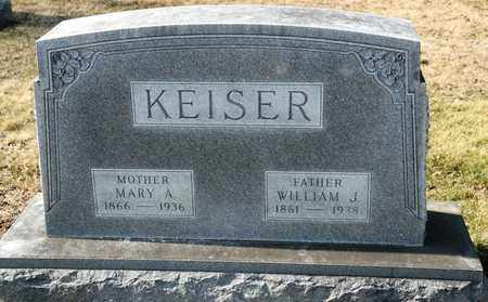 KEISER, WILLIAM J - Richland County, Ohio | WILLIAM J KEISER - Ohio Gravestone Photos