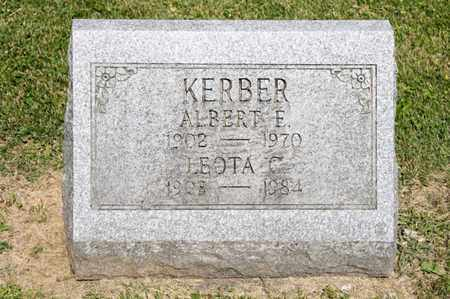 KERBER, ALBERT E - Richland County, Ohio | ALBERT E KERBER - Ohio Gravestone Photos