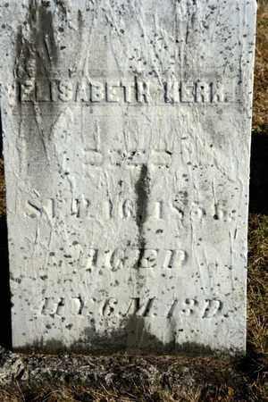 KERR, ELISABETH - Richland County, Ohio | ELISABETH KERR - Ohio Gravestone Photos