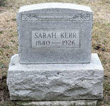 KERR, SARAH - Richland County, Ohio | SARAH KERR - Ohio Gravestone Photos