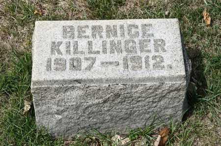 KILLINGER, BERNICE - Richland County, Ohio | BERNICE KILLINGER - Ohio Gravestone Photos