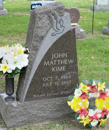 KIME, JOHN MATTHEW - Richland County, Ohio | JOHN MATTHEW KIME - Ohio Gravestone Photos