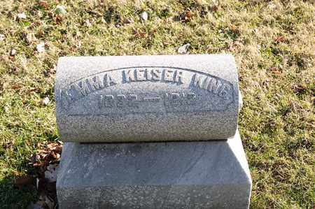 KING, EMMA - Richland County, Ohio | EMMA KING - Ohio Gravestone Photos