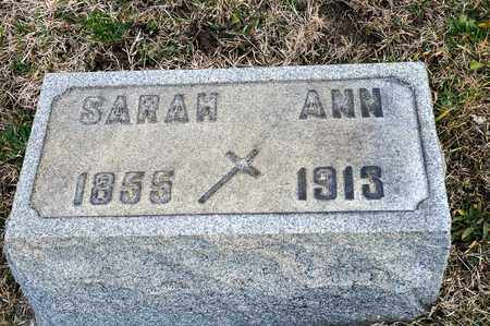 KING, SARAH ANN - Richland County, Ohio | SARAH ANN KING - Ohio Gravestone Photos