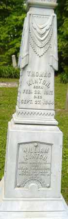 KINTON, THOMAS - Richland County, Ohio | THOMAS KINTON - Ohio Gravestone Photos
