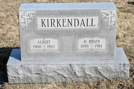 KIRKENDALL, ALBERT - Richland County, Ohio | ALBERT KIRKENDALL - Ohio Gravestone Photos