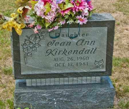 KIRKENDALL, JEAN ANN - Richland County, Ohio | JEAN ANN KIRKENDALL - Ohio Gravestone Photos