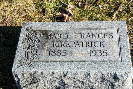KIRKPATRICK, MABEL FRANCES - Richland County, Ohio | MABEL FRANCES KIRKPATRICK - Ohio Gravestone Photos