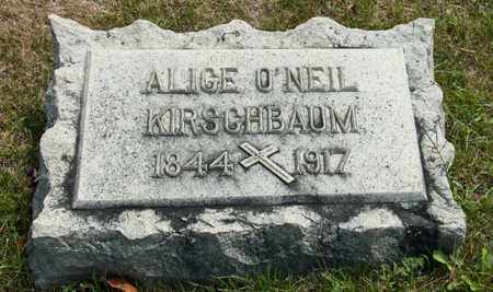 KIRSCHBAUM, ALICE - Richland County, Ohio | ALICE KIRSCHBAUM - Ohio Gravestone Photos