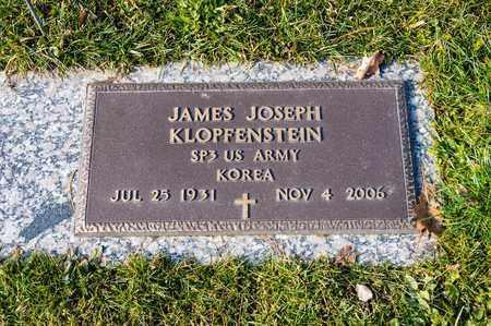 KLOPFENSTEIN, JAMES JOSEPH - Richland County, Ohio | JAMES JOSEPH KLOPFENSTEIN - Ohio Gravestone Photos