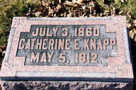 KNAPP, CATHERINE E - Richland County, Ohio | CATHERINE E KNAPP - Ohio Gravestone Photos
