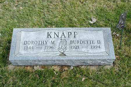 KNAPP, DOROTHY M - Richland County, Ohio | DOROTHY M KNAPP - Ohio Gravestone Photos