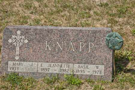 KNAPP, E JEANNETTE - Richland County, Ohio | E JEANNETTE KNAPP - Ohio Gravestone Photos