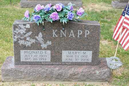 KNAPP, REGINALD E - Richland County, Ohio | REGINALD E KNAPP - Ohio Gravestone Photos