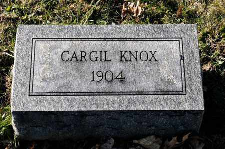 KNOX, CARGIL - Richland County, Ohio | CARGIL KNOX - Ohio Gravestone Photos