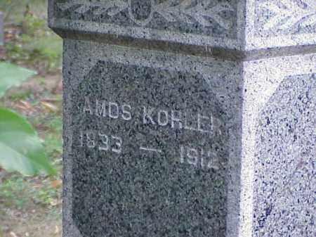 KOHLER, AMOS - Richland County, Ohio | AMOS KOHLER - Ohio Gravestone Photos