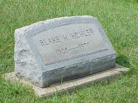 KOHLER, BLAKE H. - Richland County, Ohio | BLAKE H. KOHLER - Ohio Gravestone Photos