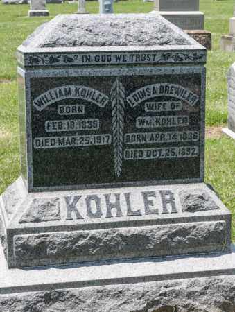 KOHLER, WILLIAM - Richland County, Ohio | WILLIAM KOHLER - Ohio Gravestone Photos