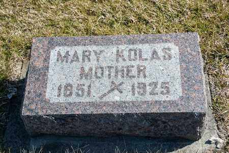 KOLAS, MARY - Richland County, Ohio | MARY KOLAS - Ohio Gravestone Photos