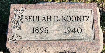 KOONTZ, BEULAH D - Richland County, Ohio | BEULAH D KOONTZ - Ohio Gravestone Photos