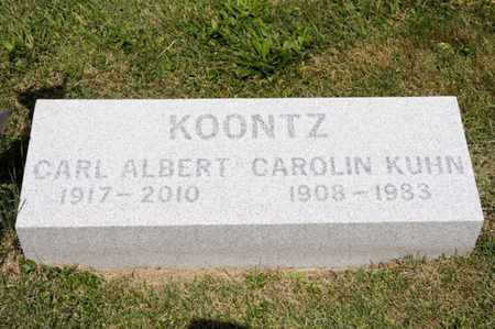 KOONTZ, CAROLIN KUHN - Richland County, Ohio | CAROLIN KUHN KOONTZ - Ohio Gravestone Photos