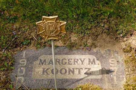 KOONTZ, MARGERY M - Richland County, Ohio | MARGERY M KOONTZ - Ohio Gravestone Photos