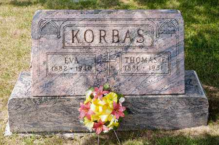 KORBAS, EVA - Richland County, Ohio | EVA KORBAS - Ohio Gravestone Photos